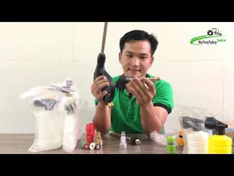 Phụ kiện máy rửa xe súng xịt chính hãng Nối dài inox 15 30 35cm Đầu lọc khớp nối đầu vào đồng