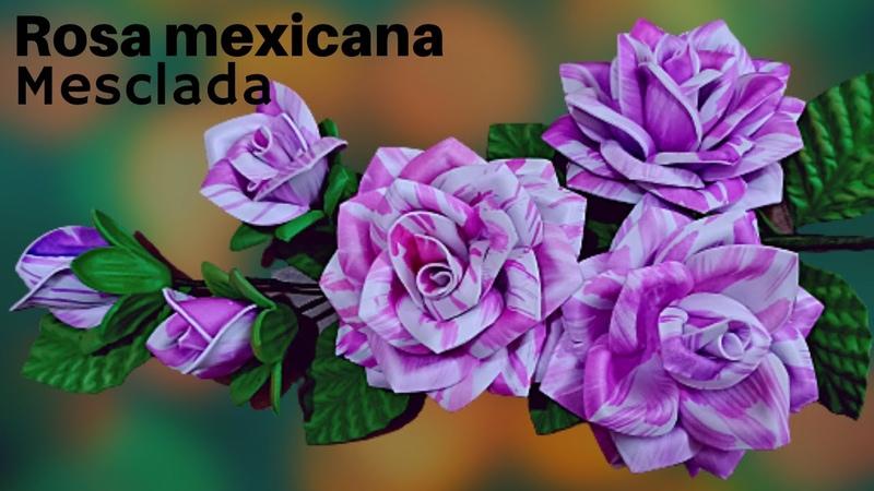 Rosa mexicana mesclada sem stêncil com dicas úteis