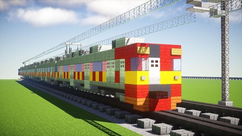 Minecraft Tokyu 8500 Series KRL Kereta Api Tutorial
