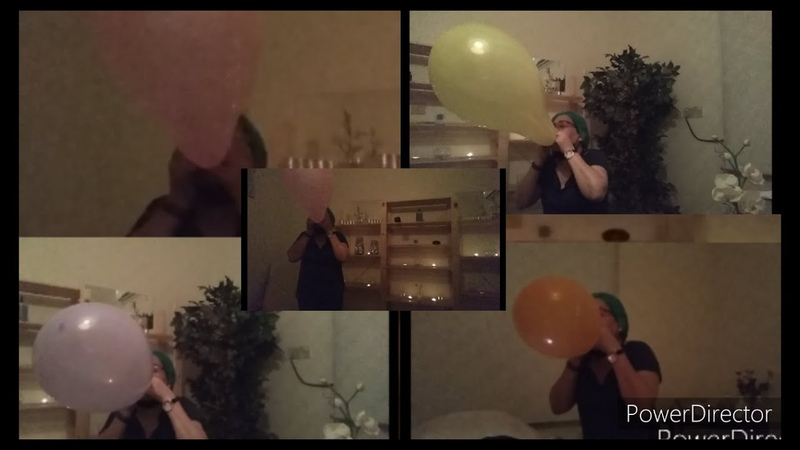 BLOWING UP 4 GIANT BALLOON BY MOUTH TO POP II EXTREMELY LOUD AND FUN