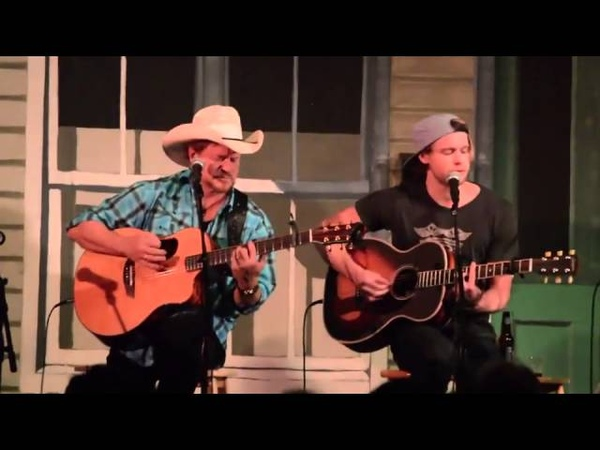 Chord Overstreet and his father Paul Overstreet on Key West Songwriters Festival 2013