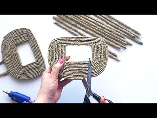 DIY: 2 Ideas of Jute Wicker Basket | Jute idea | Paper craft