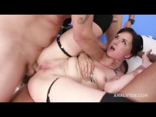 Bree Haze 4on1 Manhandle with Balls Deep Anal, DAP, Destroyed Gapes, Cremapie and Swallow