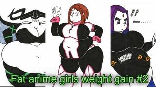 fat anime girls weight gain #2