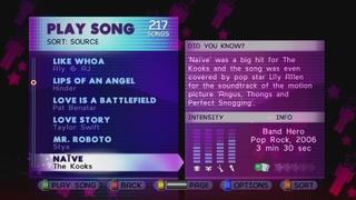 Band Hero Songlist