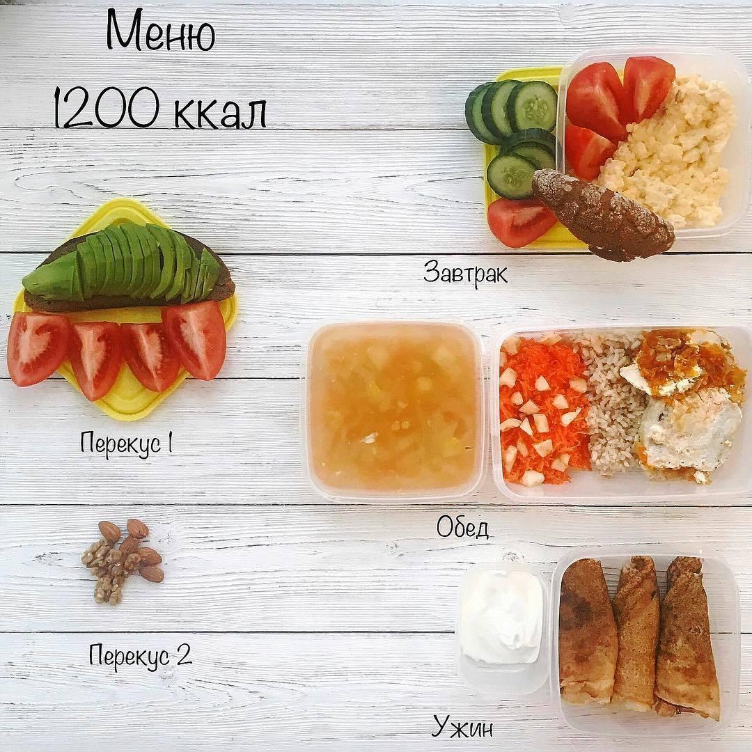 диета на 1200 калорий меню на день