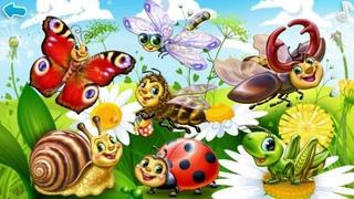 Умный малыш. Изучаем насекомых и моллюсков. Обучающий мультфильм для малышей.