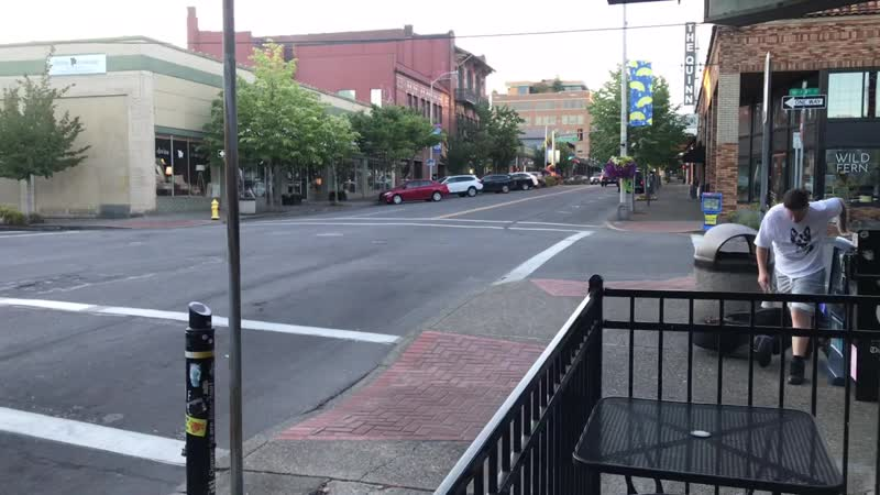 Truck Rams Scooter - Downtown Vancouver, WA