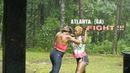 2 girls fight HEAD UP IN THE RAIN in NW Atlanta for 47 seconds and shake hands right after