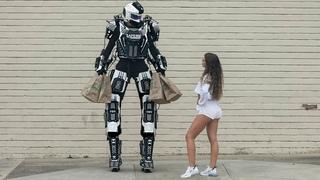 ROBOT PICKING UP GIRLS PRANK PART 3! HoomanTV