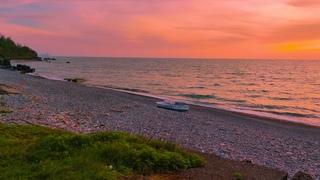 Tsikhisdziri Beach IN 4K 60fps | Relaxing Sound Of Sea Waves And Beautiful Sunset