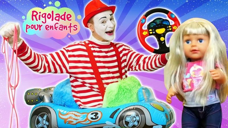 Le mime chauffeur du taxi Zapf Baby Born Sister Vidéos amusantes pour enfants
