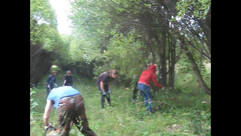 Трудовой десант истоковцев на усадьбу в Хантаново.
