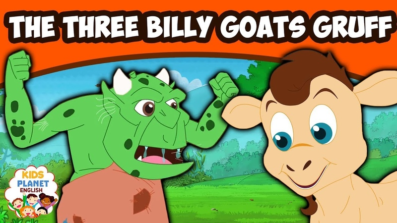 THREE BILLY GOATS GRUFF English Fairy Tales Bedtime Stories English Cartoon For Kids