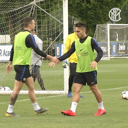 Inter on Instagram: @lautaromartinezz10 ON THE SCORESHEET! 🥅 El Toro makes the most of a @ivanperisic444 assist in training as the team contin