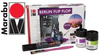 Обзор набора красок Marabu Flip Flop для декора