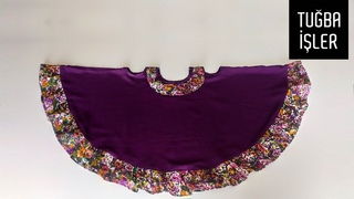 Umbrella Baby Frock Cutting and Stitching (2 Years) - Tam Daire Kloş Elbise Dikimi | Tuğba İşler