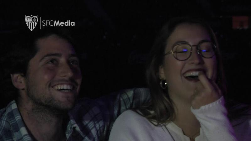 Cinco parejas disfrutaron de una velada inolvidable en el Sánchez-Pizjuan