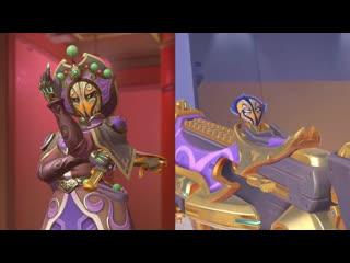 "Sombra's gun matches her new ""face changer"" skin."