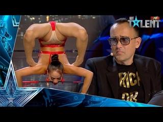 Una mujer de MONGOLIA sorprende con unas eróticas acrobacias | Audiciones 4 | Got Talent España 2021