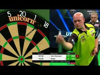 Michael van Gerwen vs Gerwyn Price (PDC Premier League Darts 2020 / Week 11)