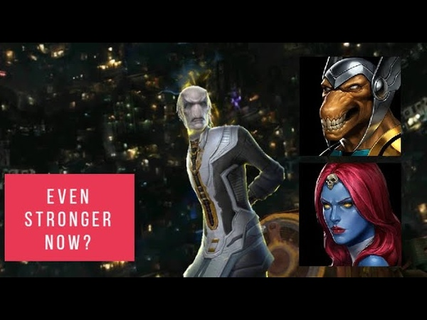 Beta Ray Bill The One Shot God and Mystique vs Ebony Maw and Corvus Glaive 99 Marvel Future Fight