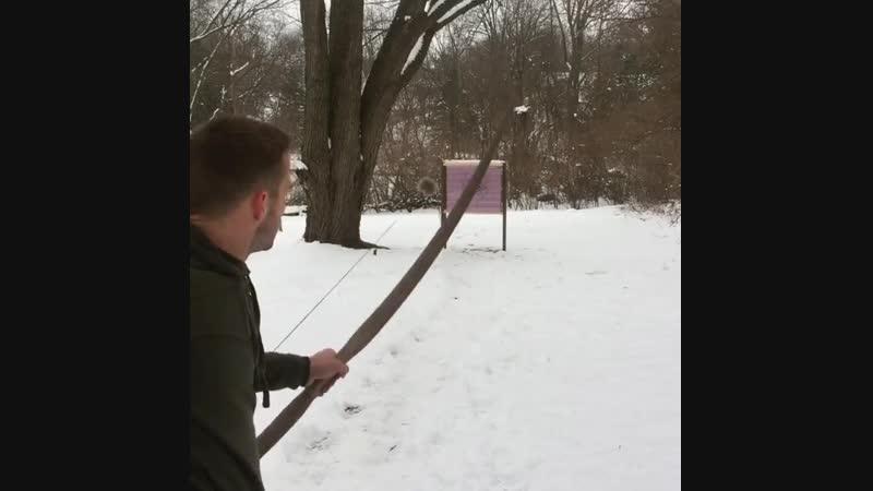 Стрельба из 50-фунтового традиционного лука из красного дуба. Ч. 2.