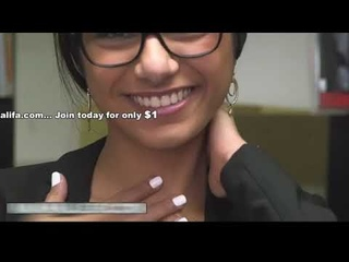 PORN STAR MIA KHALIFA - Lebanese Queen Removes her Hijab and Clothes in a Library