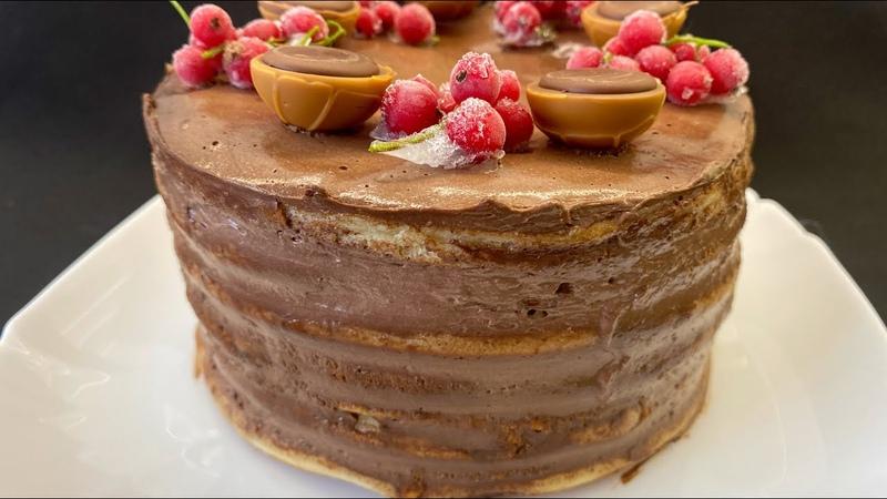 ТОРТ на МИЛЛИОН на СКОВОРОДЕ Тает во Рту Бюджетный Рецепт Торт Без Духовки Без Миксера