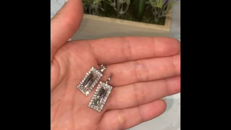 Стильные серьги Kahir с кристаллами Swarovski