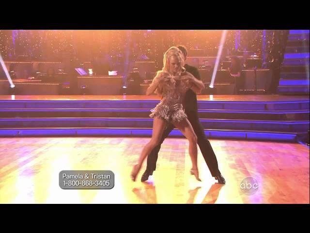 Pamela Anderson Tristan MacManus - Cha Cha Cha - Week 1