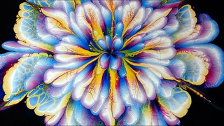 (377) AMAZING acrylic pour FLOWER painting ~ Only 3 COLOURS ~ MUST SEE!!! ~ Paint #WithMe