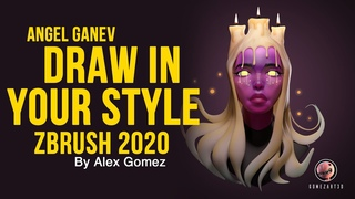 Zbrush 2020 Draw in your style character sculpt - Angel Ganev - Valencia