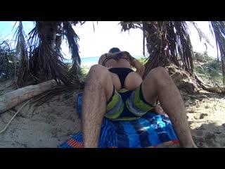 Секс на райском острове, домашнее порно, любительское, на пляже, подростки, teen, big ass, butt, island sex, в джунглях, 720