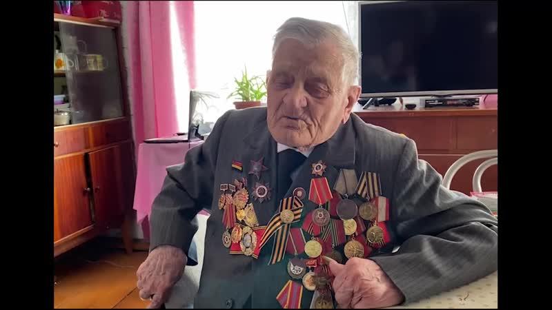 Мухин Владимир Николаевич ветеран Великой Отечественной войны проживающий на данный момент в городе Туране Республики Тыва