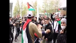 Произраильские и пропалестинские манифестанты в Германии (май 2021) :