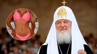 На яхте патриарха Кирилла замечена полуголая девушка