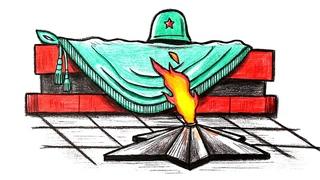 Как нарисовать вечный огонь пошагово @РИСУНКИ ЮЛЬКИ