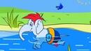 Детская песенка «Слон в парике». Учим цвета вместе с веселым слоником и каналом КРОКО РОКО