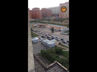 Пробка на 60 лет СССР после закрытия поворота на ул.Солнечный бульвар
