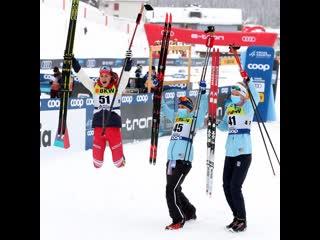 Юлия Ступак (Белорукова) выиграла серебро в коньковой раздельной гонке в Давосе в рамках 2 этапа Кубка мира по лыжным гонкам