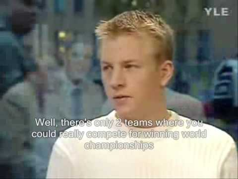Kimi Räikkönen interview after Sauber's test from 2000 with English subtitles
