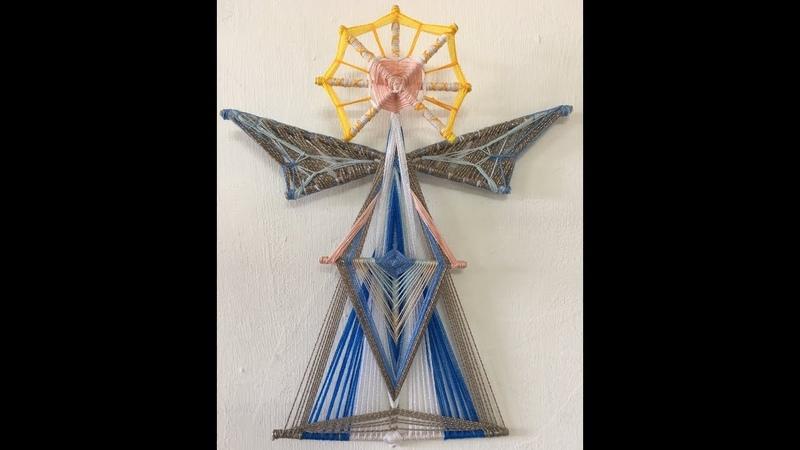 Mandala Angel Primera Parte como hacer la cabeza y las alas . Complejidad Avanzado