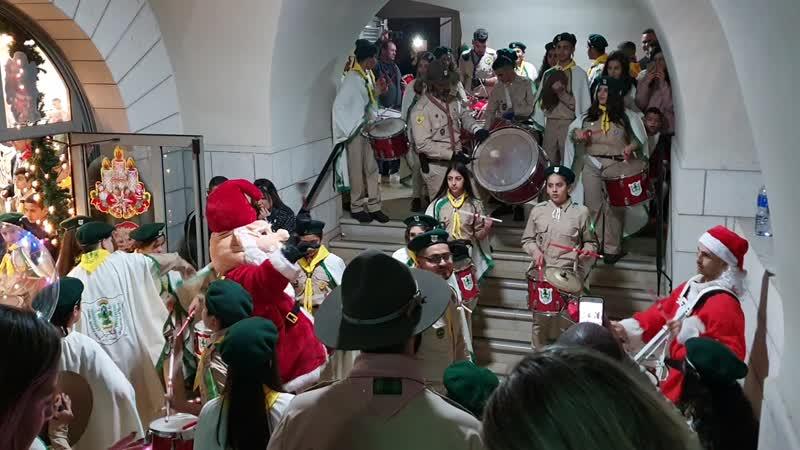 Христианские арабы-скауты в Ортодоксальной церкви Иоанна Предтечи в Хайфе 21.12.2019