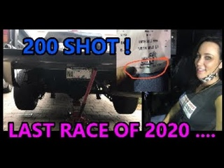LAST RACE OF 2020... or is it???? Lady Racer in a Silverado spins tire hard off the line then SPRAYS