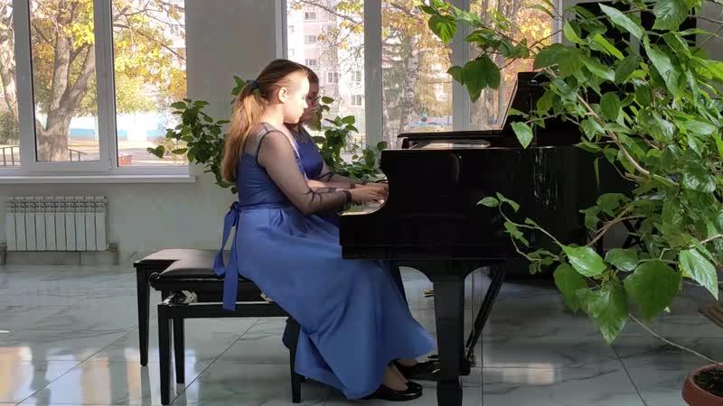 Фортепианный дуэт Хорунжая Анастасия Жилина Алина