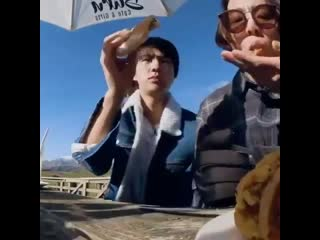 jin feeds jungkook before he even has a bite