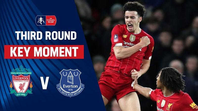 Sensational Curtis Jones Worldie Wins Derby Liverpool 1 0 Everton Emirates FA Cup 19 20