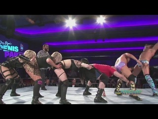 Joey Ryan, Val Venis & SeXy Eddy vs Priscilla Kelly, Scarlett & Session Moth (INTERGENDER Wrestling)