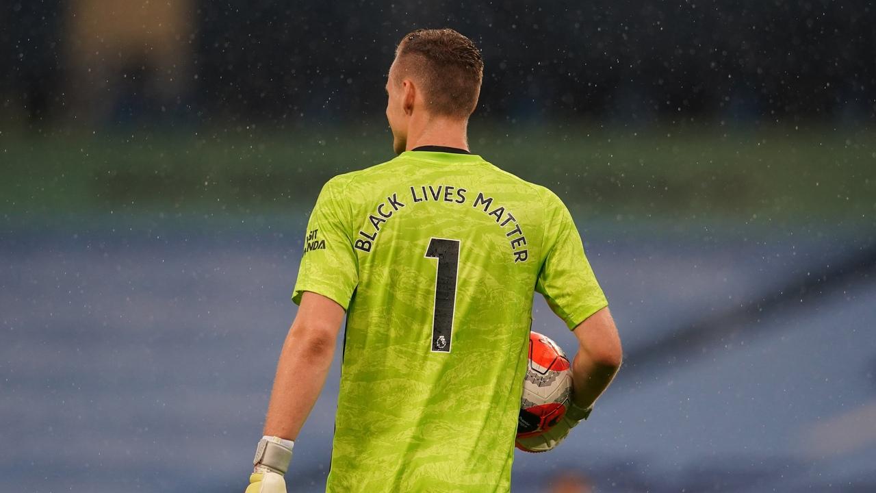 Манчестер Сити - Арсенал, Black Lives Metter вместо фамилии на футболке